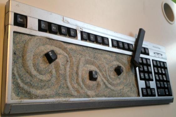 Arte con arena para ejercitar el cambio