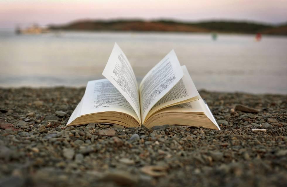 Autores y libros en la playa